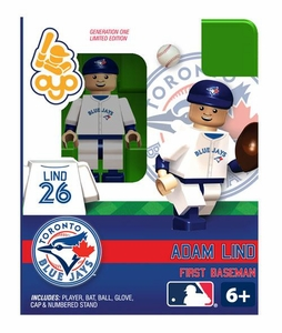OYO Baseball MLB Building Brick Minifigure Adam Lind [Toronto Blue Jays]