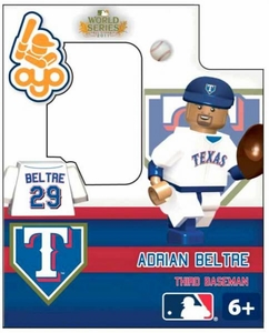 OYO Baseball MLB Building Brick World Series 2011 Minifigure Adrian Beltre [Texas Rangers]