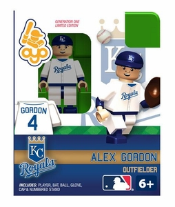 OYO Baseball MLB Building Brick Minifigure Alex Gordon [Kansas City Royals]