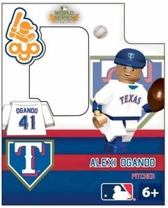OYO Baseball MLB Building Brick World Series 2011 Minifigure Alexi Ogando [Texas Rangers]