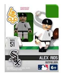 OYO Baseball MLB Building Brick Minifigure Alex Rios [Chicago White Sox]