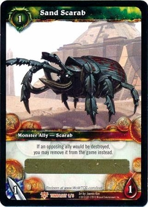 World of Warcraft Card Game Tomb of the Forgotten Single Card Legendary Loot #1 Sand Scarab