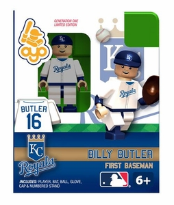 OYO Baseball MLB Building Brick Minifigure Billy Butler [Kansas City Royals]