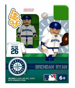 OYO Baseball MLB Building Brick Minifigure Brendan Ryan [Seattle Mariners]