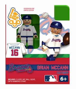 OYO Baseball MLB Building Brick Minifigure Brian McCann [Atlanta Braves]