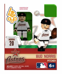 OYO Baseball MLB Building Brick Minifigure Bud Norris  [Houston Astros]