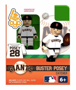 OYO Baseball MLB Building Brick Minifigure Buster Posey [San Francisco Giants]