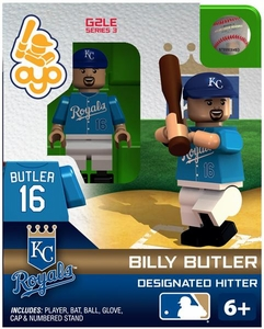 OYO Baseball MLB Generation 2 Building Brick Minifigure Billy Butler [Kansas City Royals]