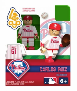 OYO Baseball MLB Building Brick Minifigure Carlos Ruiz [Philadelphia Phillies]