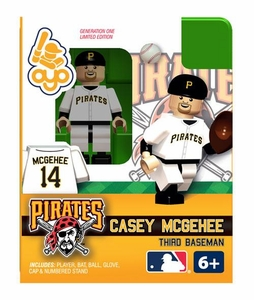 OYO Baseball MLB Building Brick Minifigure Casey McGehee [Pittsburgh Pirates]