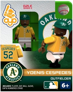 OYO Baseball MLB Generation 2 Building Brick Minifigure Yoenis Cespedes [Oakland A's]
