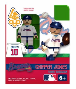 OYO Baseball MLB Building Brick Minifigure Chipper Jones [Atlanta Braves]