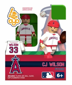 OYO Baseball MLB Building Brick Minifigure CJ Wilson [Los Angeles Angels] BLOWOUT SALE!