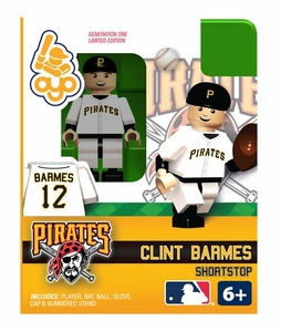 OYO Baseball MLB Building Brick Minifigure Clint Barmes [Pittsburgh Pirates]