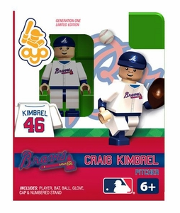OYO Baseball MLB Building Brick Minifigure Craig Kimbrel [Atlanta Braves]