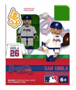 OYO Baseball MLB Building Brick Minifigure Dan Uggla [Atlanta Braves]