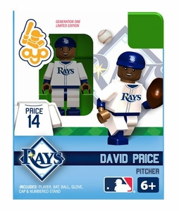 OYO Baseball MLB Building Brick Minifigure David Price [Tampa Bay Rays]