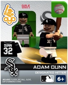 OYO Baseball MLB Generation 2 Building Brick Minifigure Adam Dunn [Chicago White Sox]