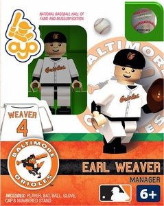 OYO Baseball MLB Building Brick Minifigure Earl Weaver [Baltimore Orioles]