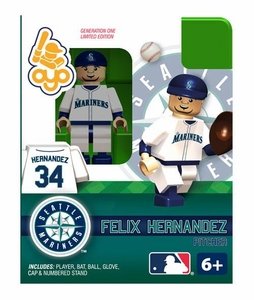 OYO Baseball MLB Building Brick Minifigure Felix Hernandez [Seattle Mariners]