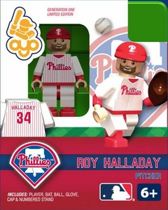 OYO Baseball MLB Building Brick Minifigure Roy Halladay [Philadelphia Phillies]