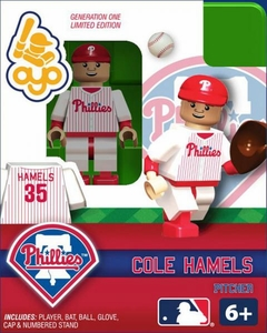 OYO Baseball MLB Building Brick Minifigure Cole Hamels [Philadelphia Phillies]