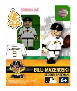 OYO Baseball MLB Building Brick Minifigure Bill Mazeroski [Pittsburgh Pirates Hall of Fame]