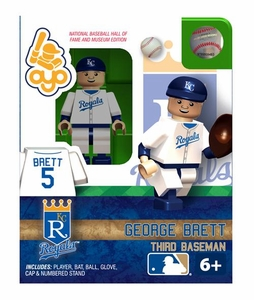 OYO Baseball MLB Building Brick Minifigure George Brett [Kansas City Royals Hall of Fame]