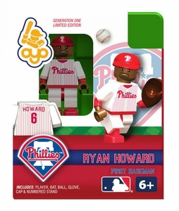 OYO Baseball MLB Building Brick Minifigure Ryan Howard [Philadelphia Phillies]