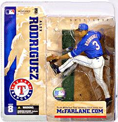 McFarlane Toys MLB Sports Picks Series 8 Action Figure Alex Rodriguez (Texas Rangers) Blue Jersey