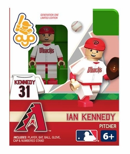 OYO Baseball MLB Building Brick Minifigure Ian Kennedy [Arizona Diamondbacks]