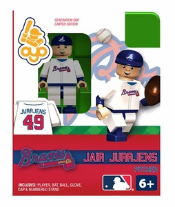 OYO Baseball MLB Building Brick Minifigure Jair Jurrjens [Atlanta Braves]