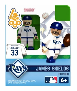 OYO Baseball MLB Building Brick Minifigure James Shields [Tampa Bay Rays]