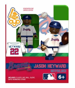 OYO Baseball MLB Building Brick Minifigure Jason Heyward [Atlanta Braves]