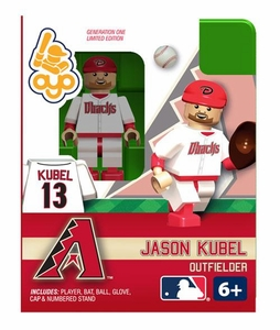 OYO Baseball MLB Building Brick Minifigure Jason Kubel [Arizona Diamondbacks]