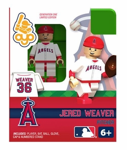 OYO Baseball MLB Building Brick Minifigure Jered Weaver [Angels of Anaheim]