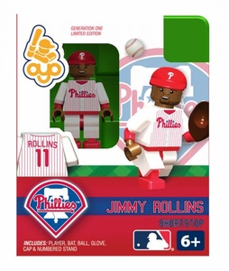 OYO Baseball MLB Building Brick Minifigure Jimmy Rollins [Philadelphia Phillies]