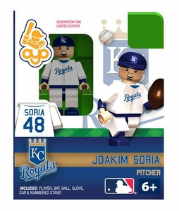 OYO Baseball MLB Building Brick Minifigure Joakim Soria [Kansas City Royals]