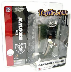 McFarlane Toys NFL Sports Picks Series 8 Action Figure Tim Brown (Oakland Raiders) Black Jersey With Towel