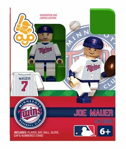 OYO Baseball MLB Building Brick Minifigure Joe Mauer [Minnesota Twins]