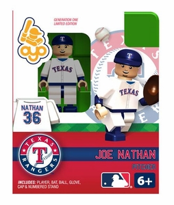 OYO Baseball MLB Building Brick Minifigure Joe Nathan [Texas Rangers]