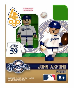 OYO Baseball MLB Building Brick Minifigure John Axford [Milwaukee Brewers]