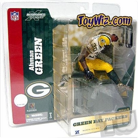 McFarlane Toys NFL Sports Picks Series 8 Action Figure Ahman Green (Green Bay Packers) White Jersey Variant