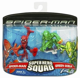 Spider-Man Hasbro Super Hero Squad Action Figure 2-Pack Spider-Man & Green Goblin