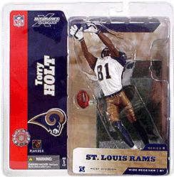 McFarlane Toys NFL Sports Picks Series 8 Action Figure Torry Holt (St. Louis Rams) White Jersey #81 Gold Pants