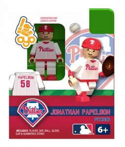 OYO Baseball MLB Building Brick Minifigure Jonathan Papelbon [Philadelphia Phillies]