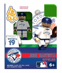 OYO Baseball MLB Building Brick Minifigure Jose Bautista [Toronto Blue Jays]