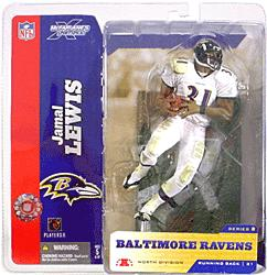 McFarlane Toys NFL Sports Picks Series 8 Action Figure Jamal Lewis (Baltimore Ravens) White Jersey Variant