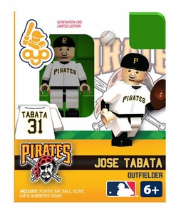 OYO Baseball MLB Building Brick Minifigure Jose Tabata [Pittsburgh Pirates]