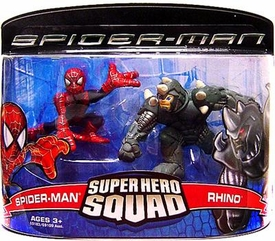 Spider-Man Hasbro Super Hero Squad Action Figure 2-Pack Spider-Man & Rhino